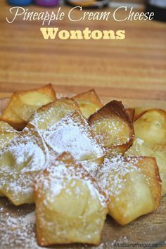 Pineapple Cream Cheese Wontons - 4 Hats and Frugal