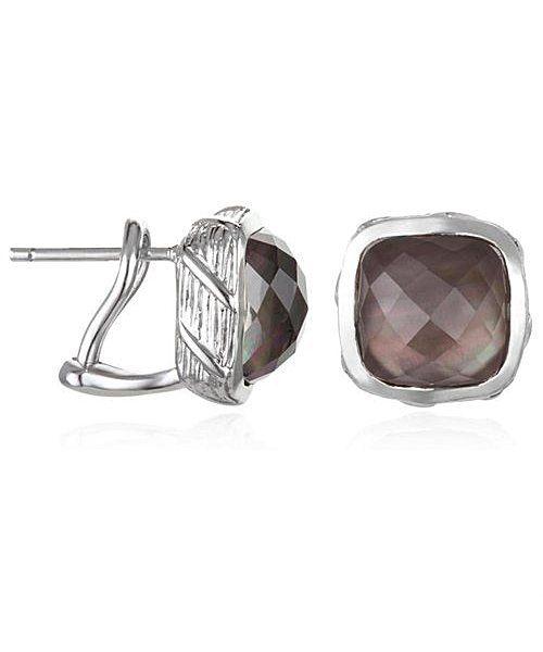 Ariva Fine Jewelry Ariva Sterling & Gemstone Earring   BLUEFLY up to 70% off designer brands