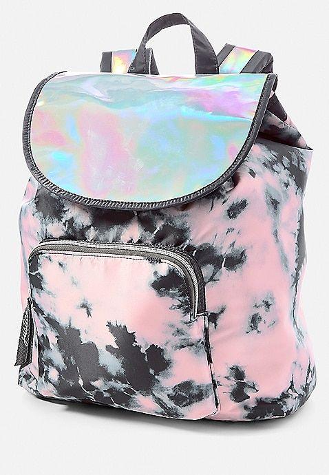 Holo Dye Effect Rucksack Justice Girl Backpacks Cute Girl Backpacks Girls Backpack Kids