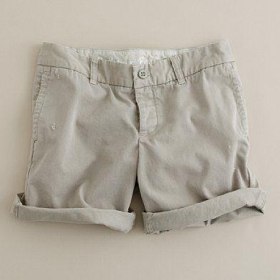 Broken-in Boyfriend Chino Short, light ash