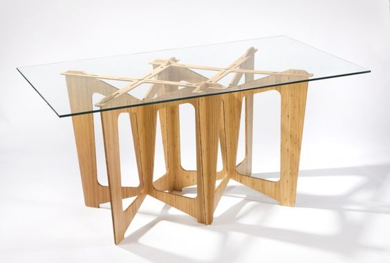 Stunning Table Furniture Design With Awesome Cardboard Base And Rectangle Glass Top Table Ideas - Use J/K to navigate to previous and next images