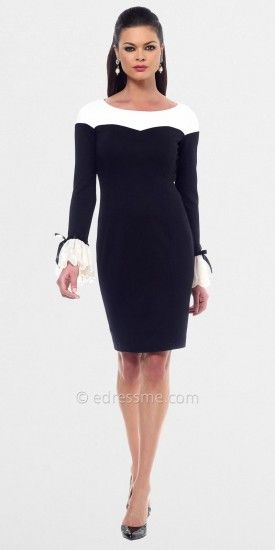 This cocktail dress from NUE by Shani gives a little vintage vibe with its adorable bell sleeves. Pair with the black or...Price - $280.00 - mCStaqRg