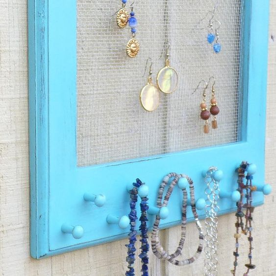Beach Cottage Jewelry Organizer Apartment Storage and Organization