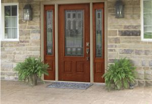 Fiberglass Stained Entry Door Renewal By Andersen Entry