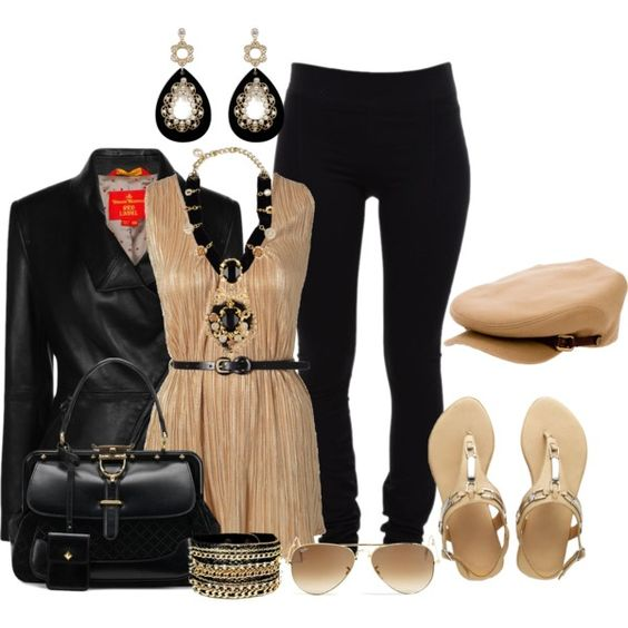"""""""Black and Brown"""" by laaudra-rasco on Polyvore"""