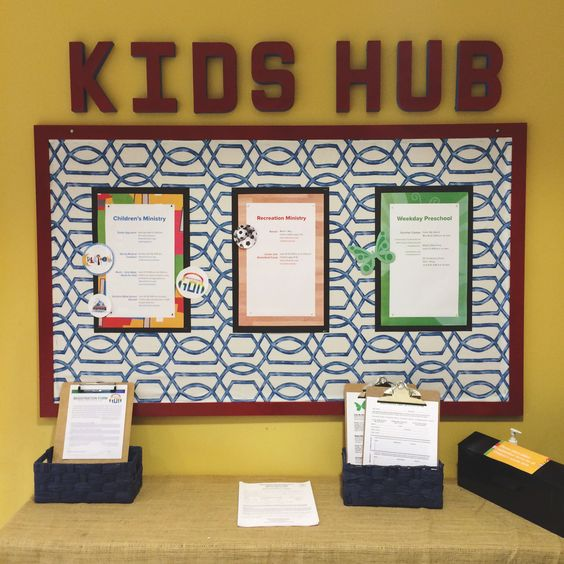 Church bulletin boards church bulletins and bulletin for Room and board kids
