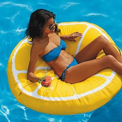 Turn your pool into a virtual punch bowl with our exclusive Fancy Fruit Float. Filled with polystyrene beads, for a cushiony, beanbag-like settle-in    feeling that conforms to you, this bright slice of fun is the much-more-fun way to chill out in style on the water. The colorful cover is made of a    combination of polyester knit and tough stain-resistant, water-resistant polyester Smartmax fabric. Use this fabulous    float in the pool, or even place a few out as colorful poolside seat...