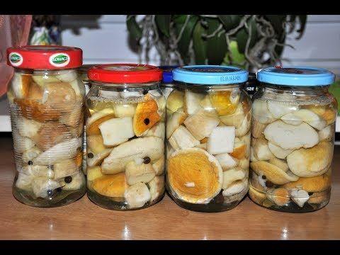 Grzyby W Occie Marynowane Prawdziwki Przepis Tradycyjny Marinated Mushrooms Youtube Food Recipes Cucumber