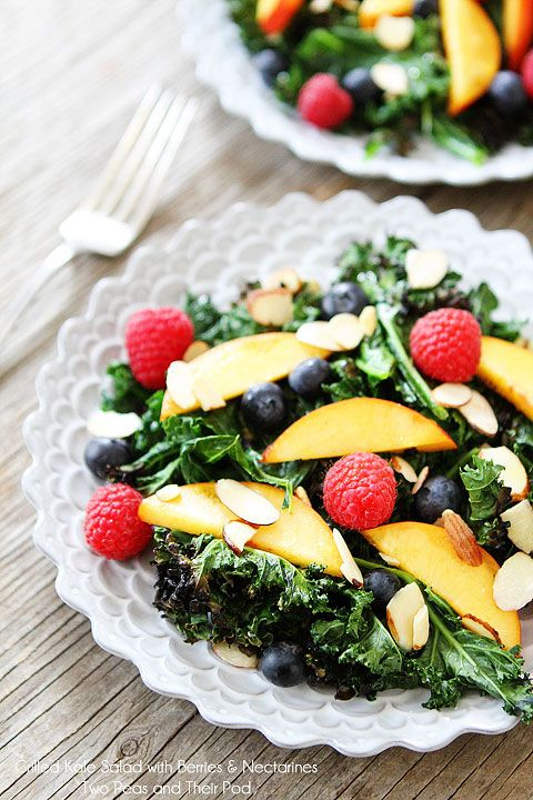 Grilled Kale Salad with Berries and Nectarines | 39 Salads To Make On The Grill
