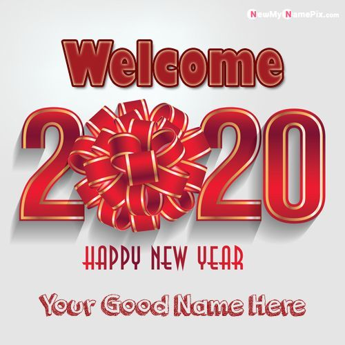 Pin On 2020 Happy New Year Name Picture Wishes