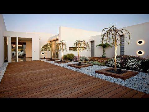 100 Modern House Backyard Design Ideas Beautiful Landscape Youtube Modern Landscaping Modern Backyard Landscaping Modern Landscape Design