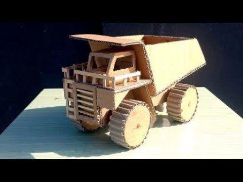 Mudah Cara Membuat Truk Mainan Dari Barang Bekas Diy Cardboard Youtube Mobil Mainan Kreatif Mainan Anak
