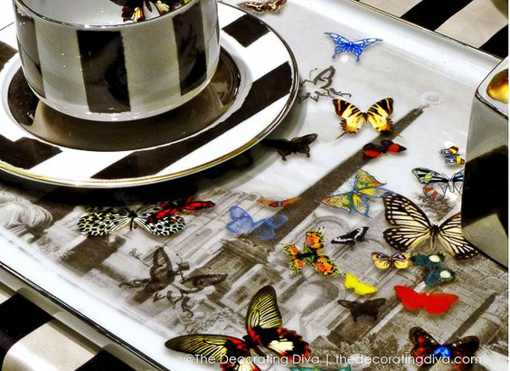Christian Lacroix Maison Butterfly Tray for Vista Alegre 1824
