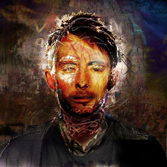 """The Portrait Eraser (Thom Yorke)"" by Jeremy Cowart"