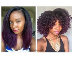 Color goal- purple ombre on natural hair