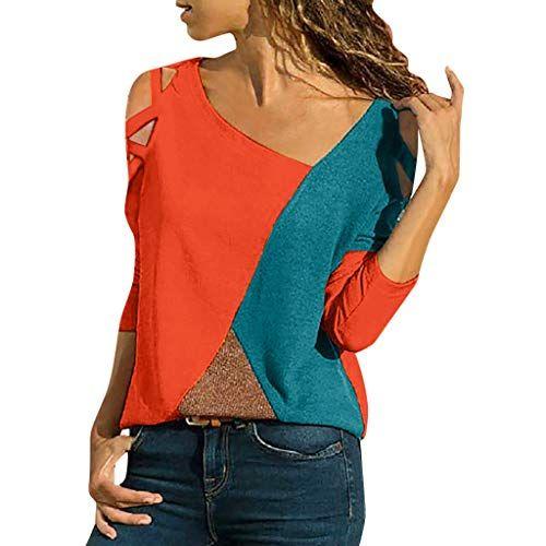 Rainbow Femmes Chemise longue chemise tunique top blouse t-shirt imprimé polyester