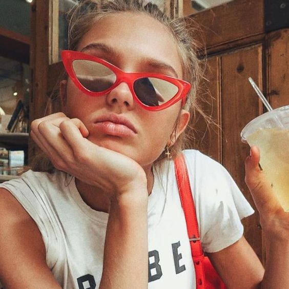 #FASHION #NEW Cool Trendy Small Cat Eye Sunglasses Women 2018 Fashion Newest Sexy Brand Designer Sun glasses For Female Oculos de sol 1157R