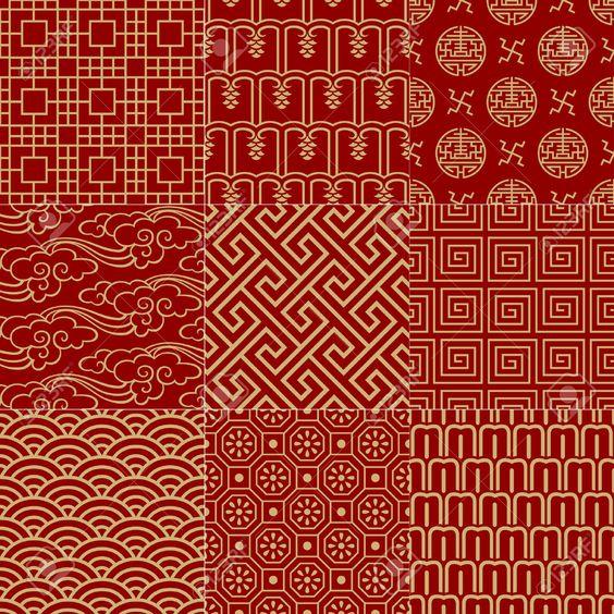 Seamless Traditional Auspicious Chinese Mesh Pattern ...