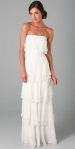 Caitlin Tiered Strapless Gown $890.00