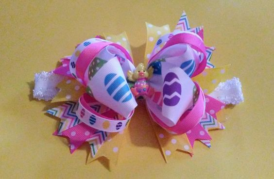 Easter headband, Easter Chick headband, Easter Egg Headband, Polka Dot Easter headband, Easter, Happy Easter, Easter baby headband by BakersgirlBowtique on Etsy