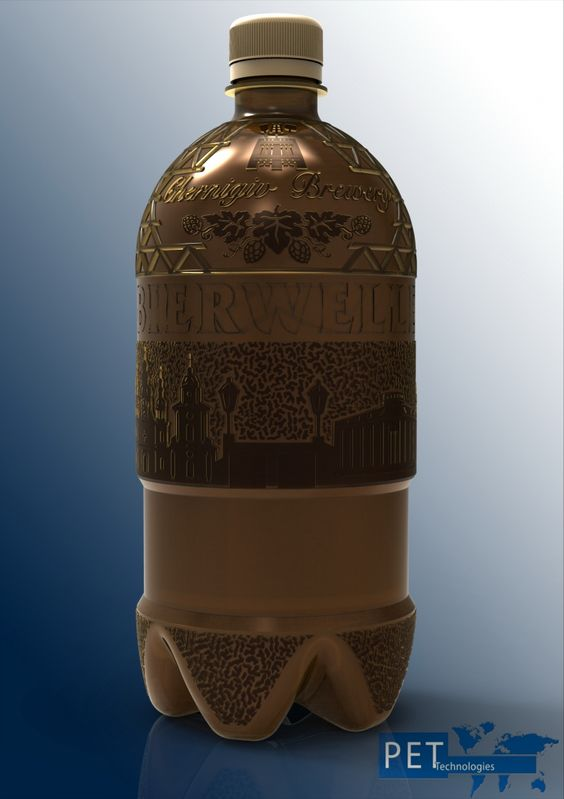 PET Technologies сompany has developed unique bottle design for the brewery Bierwelle, Chernihiv, Ukraine.   PET Technologies R&D department designed a PET bottle taking into consideration PET blow molding process and bottle application characteristics on the one hand and customer´s vision on the other.   The feature worth to highlight is bottle decoration based on the ancient city sightseeing views, both Bierwelle and PET Technologies birth place.