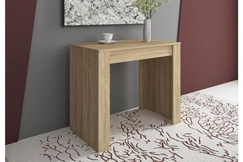 Comfort Table Console Extensible Avec Allonges Jusqu A 140 Cm Couleur Chene Clair Brosse Jusqu Table Console Extensible Console Extensible Decoration Maison
