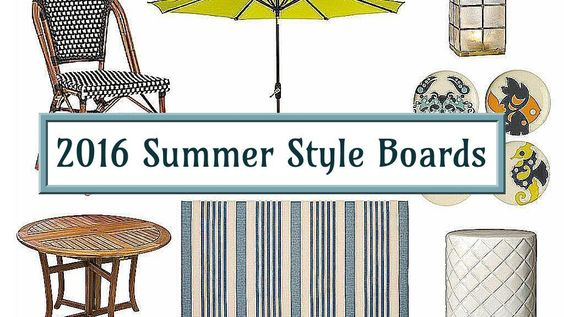 2016 Summer Style Boards