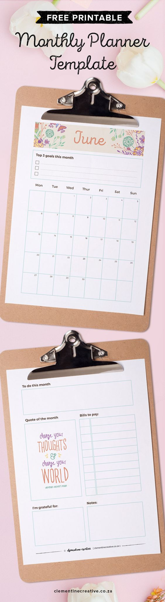 Monthly Calendar You Can Edit : June free printable monthly planner and calendar
