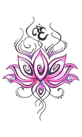 Tribal Pink Watercolor Lotus Forearm Tattoo Ideas For Women