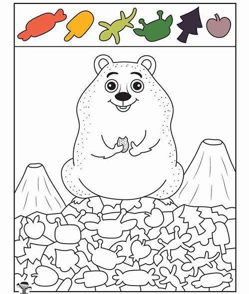 العاب قوة الملاحظة والتركيز اختبار مذهل لقوة الملاحظة من خلال 10 صور بالعربي نتعلم Groundhog Day Activities Drawing Books For Kids Winter Crafts Preschool