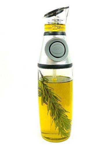 eZinco Olive Oil Dispenser Vinegar Bottle Press and Measure As Seen on TV 17 Oz #eZinco