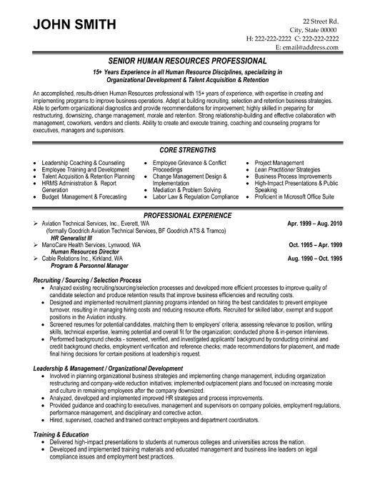 Free Resume Templates Human Resources Human Resources Proposal Surat Wawancara