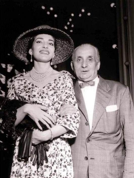 Maria Callas Con Il Marito Gian Battista Meneghini