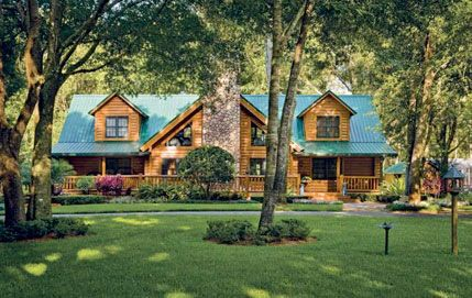 Log Cabin Homes Cabin Kits And Cabin On Pinterest