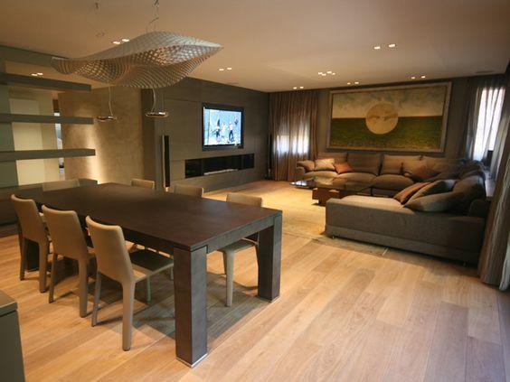 Comedor #Sala de la TV #Salon #moderno #decoracion via ...