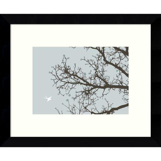 Framed Art Print 'Whimsy Tree' by Erin Clark 11 x 9-inch