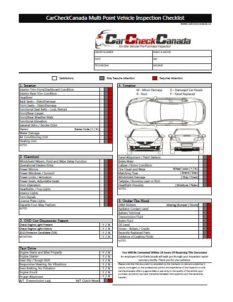 Weekly Vehicle Inspection Checklist Template | Car Maintenance ...