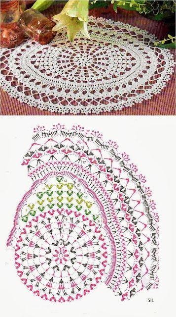 Portal Crocheteiras: CENTROS DE MESA - MODELOS