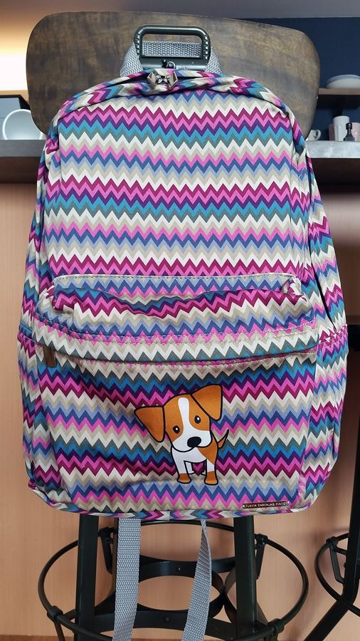 Zig Zag pattern backpack.