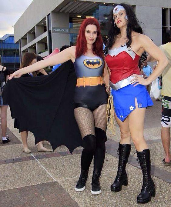 Batgirl and Wonderwoman
