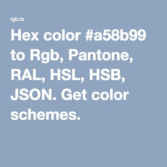 hex color to rgb pantone ral hsl and hsb formats generate color schemes for your design and download json