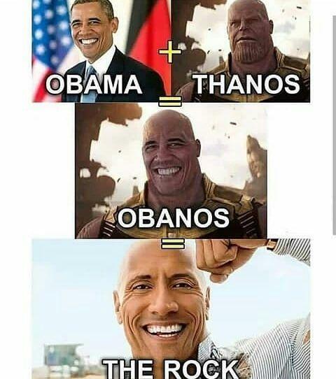 Follow For More Photos Avenger Avengers Rock Obama Thanos Endgame Infinitygauntlet Most Hilarious Memes Funny Relatable Memes Funny Marvel Memes