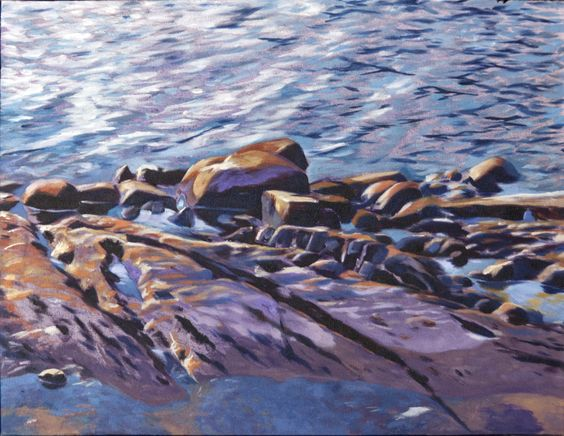 low waterline  oil on canvas  12 in (30.48 cm) x 16 in (40.64 cm)