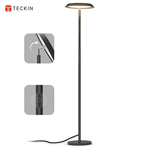 Led Floor Lamp Dimmable Modern Tall Floor Lamps Industrial Office Floor Lamp Standing Pole Light Teckin Touch Control Reading Li Floor Lamp Led Floor Lamp Lamp