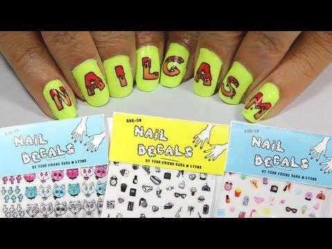 How to apply rub-on nail decals designed by Sara M. Lyons