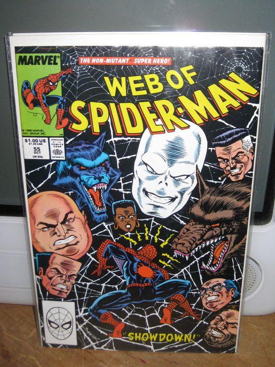 "WEB OF SPIDER-MAN #55 ""THE CHAMELEON, KINGPIN"""" AMAZING SPIDER-MAN MARVEL COMICS"