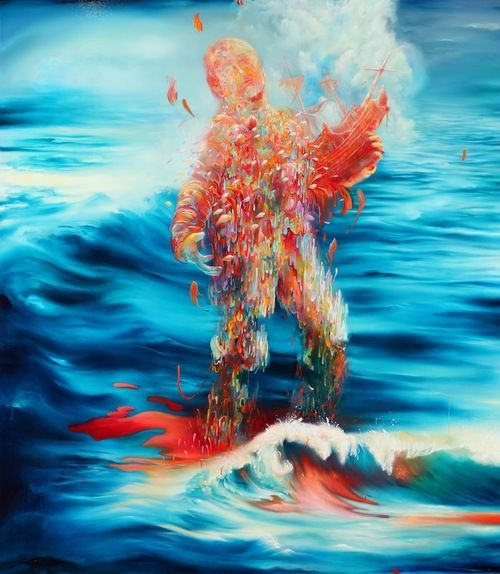 Michael Page, Water's End, oil on canvas, 42 x 48, 2013