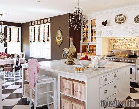 Candy Land Kitchen: Country Kitchen, Kitchen Design, Brown Wall