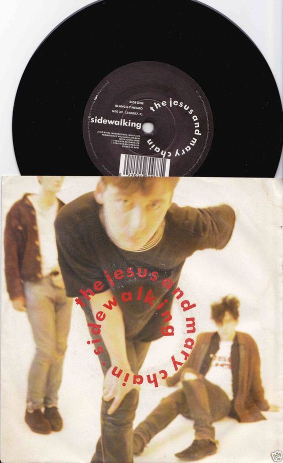 "JESUS & MARY CHAIN Sidewalking 1988 UK 7"" 45 VINYL Single NEG32 Free S&H"