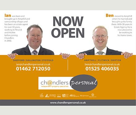 As the name and design suggests Chandlers estate agents launch - door hanger design template